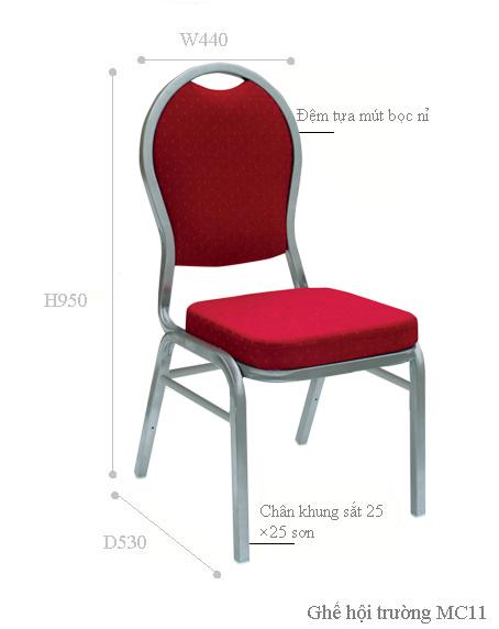 Kích thước ghế MC11