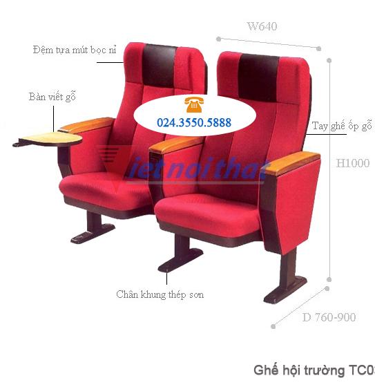 Kích thước kỹ thuật ghế TC03B