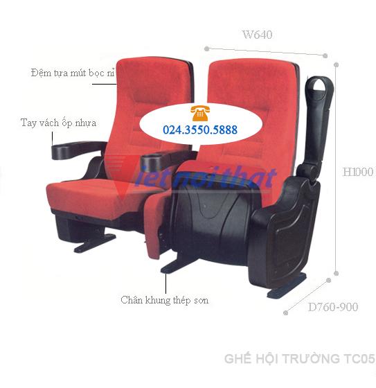 Ghế hội trường, rạp chiếu phim TC05