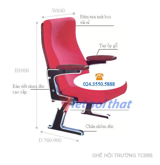 Kích thước kỹ thuật ghế TC06B