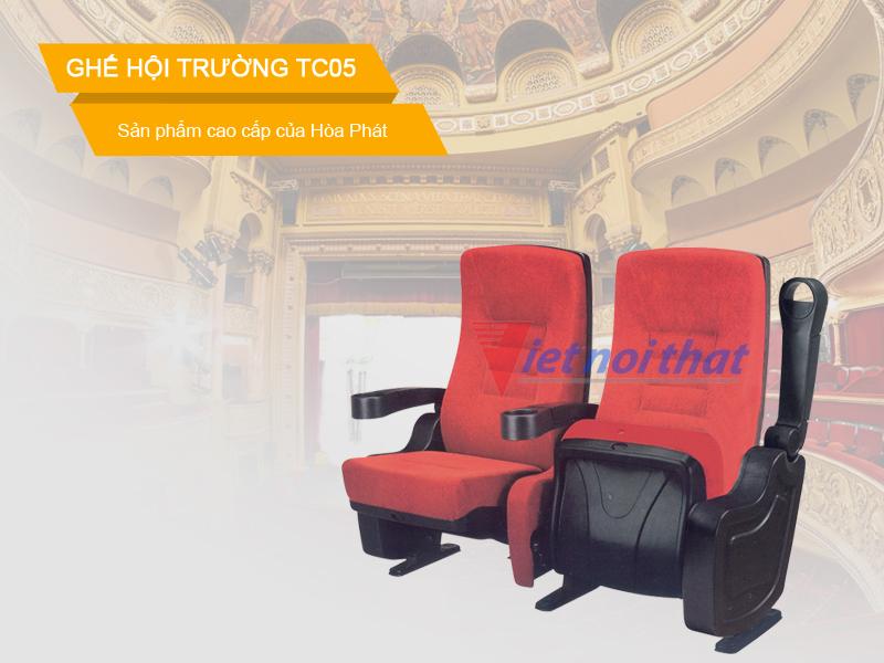 Ghế TC05 Hòa Phát Ghế dành cho hội trường, rạp chiếu phim hay rạp hát.