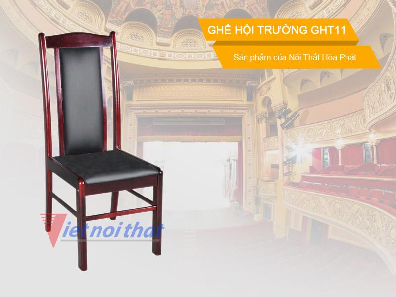 Ghế hội trường Hòa Phát GHT11 chất liệu gỗ tự nhiên. Sản phẩm của nội thất Hòa Phát