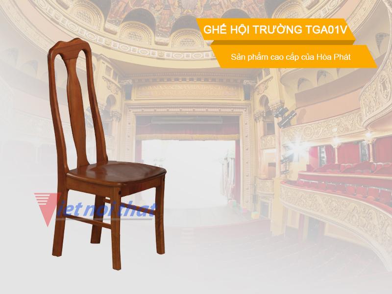 Ghế hội trường gỗ tự nhiên TGA01V