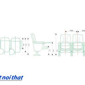 Chi tiết kỹ thuật Ghế hội trường nhập khẩu HJ-32