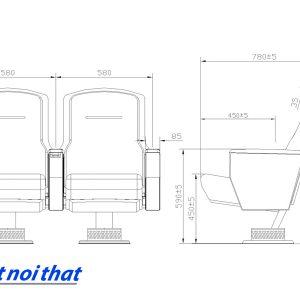 Chi tiết kỹ thuật Ghế hội trường nhập khẩu HJ-6825