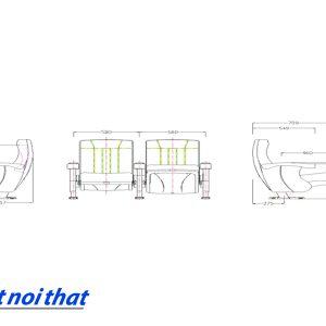 Chi tiết kỹ thuật Ghế rạp chiếu phim nhập khẩu HJ-811