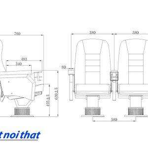 Chi tiết kỹ thuật Ghế rạp chiếu phim nhập khẩu HJ-95C