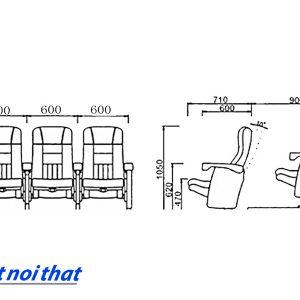 Chi tiết kỹ thuật Ghế rạp chiếu phim nhập khẩu HJ-95