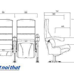 Chi tiết kỹ thuật Ghế rạp chiếu phim nhập khẩu HJ-9910A