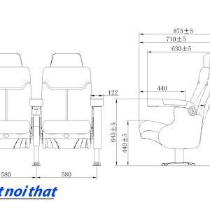 Chi tiết kỹ thuật Ghế rạp chiếu phim nhập khẩu HJ-9913A