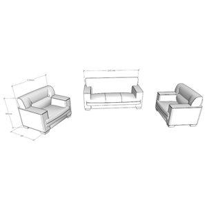 Sofa tiếp khách phòng giám đốc SOFA01